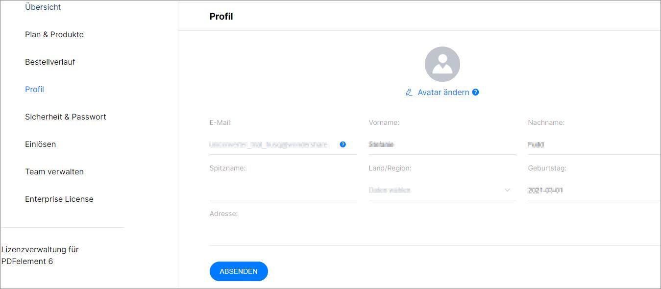 UniConverter Account Profil