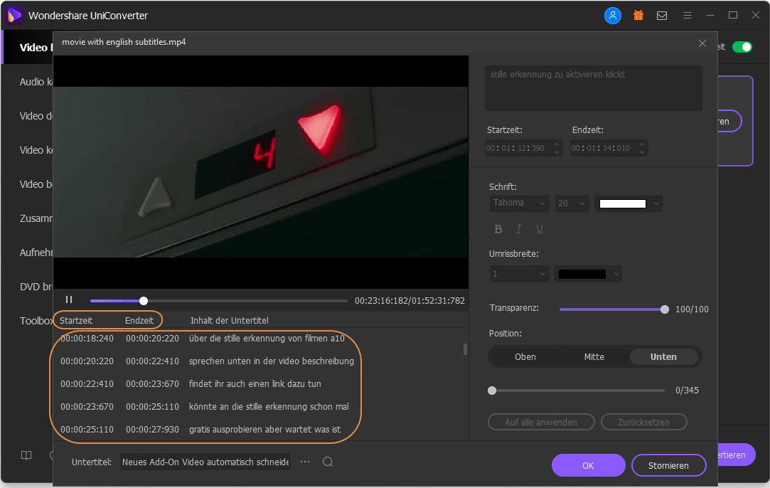 wie man ein Videountertitel bearbeitet