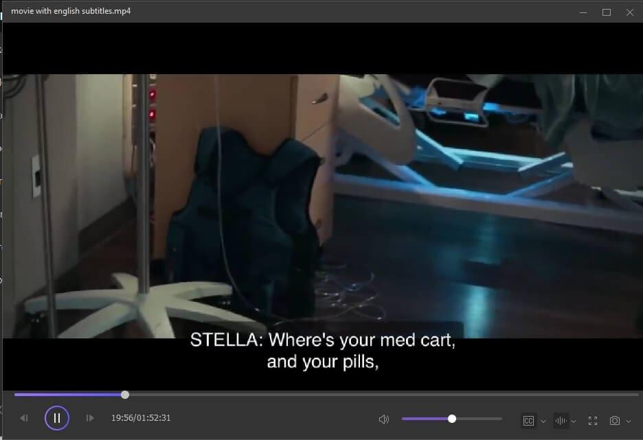 Überprüfung des Untertitels