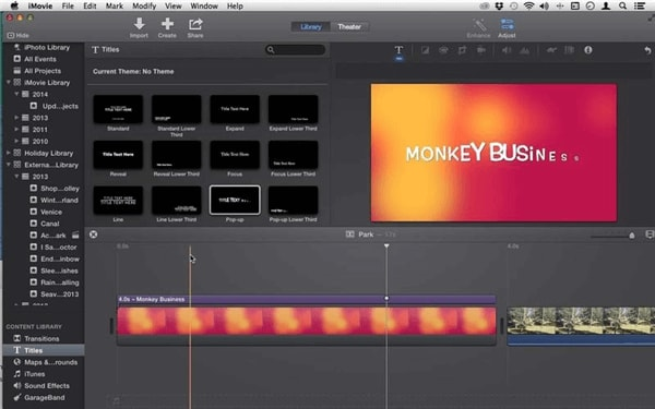 Wie man Karten und Hintergründe in iMovie für Mac verwendet