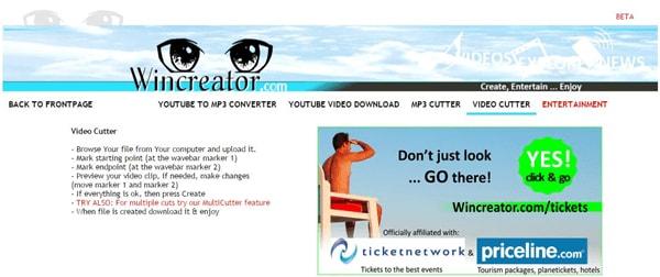 Bester Online MP4 Cutter, um MP4 Videos online kostenlos zusammenzufügen - Wincreator Video Cutter
